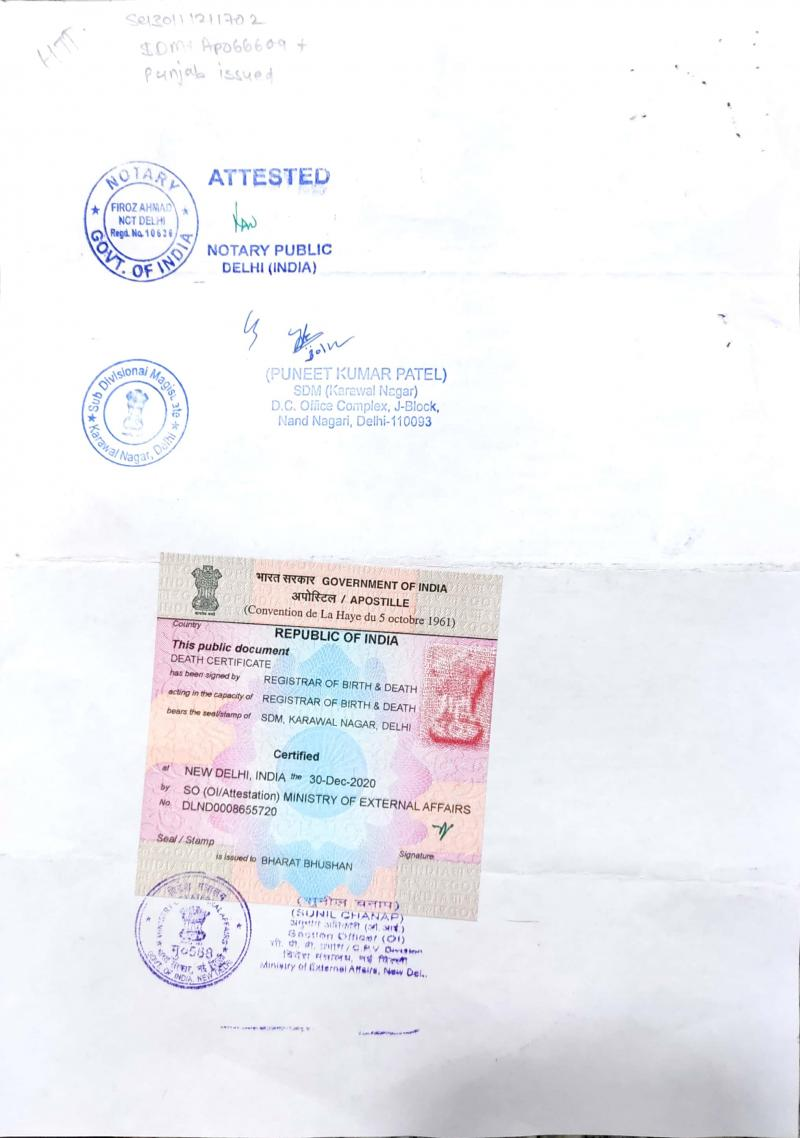 Birth Certificate apostille in Hyderabad