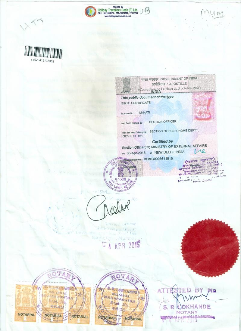 Passport Copy apostille Image