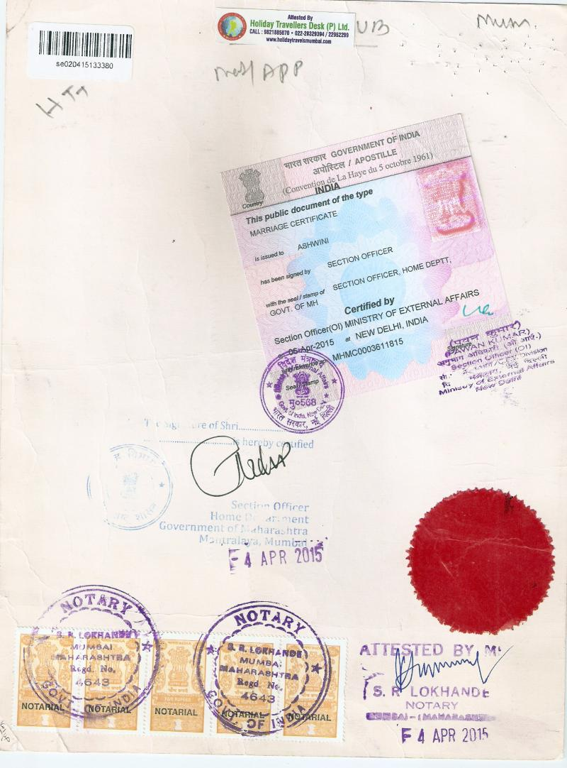 Holiday Travellers Desk Pvt Ltd Apostille Service In Mumbai