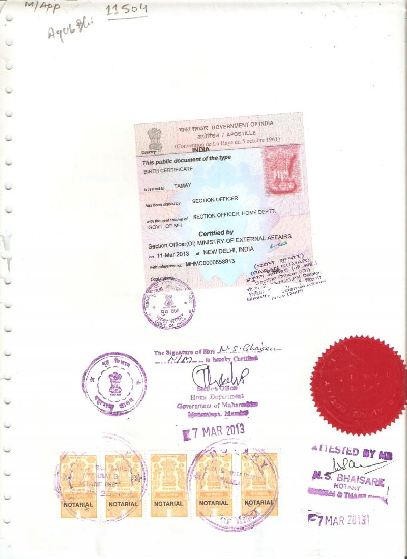 Holiday Travellers Desk Pvt Ltd Certificate Apostille In Pune