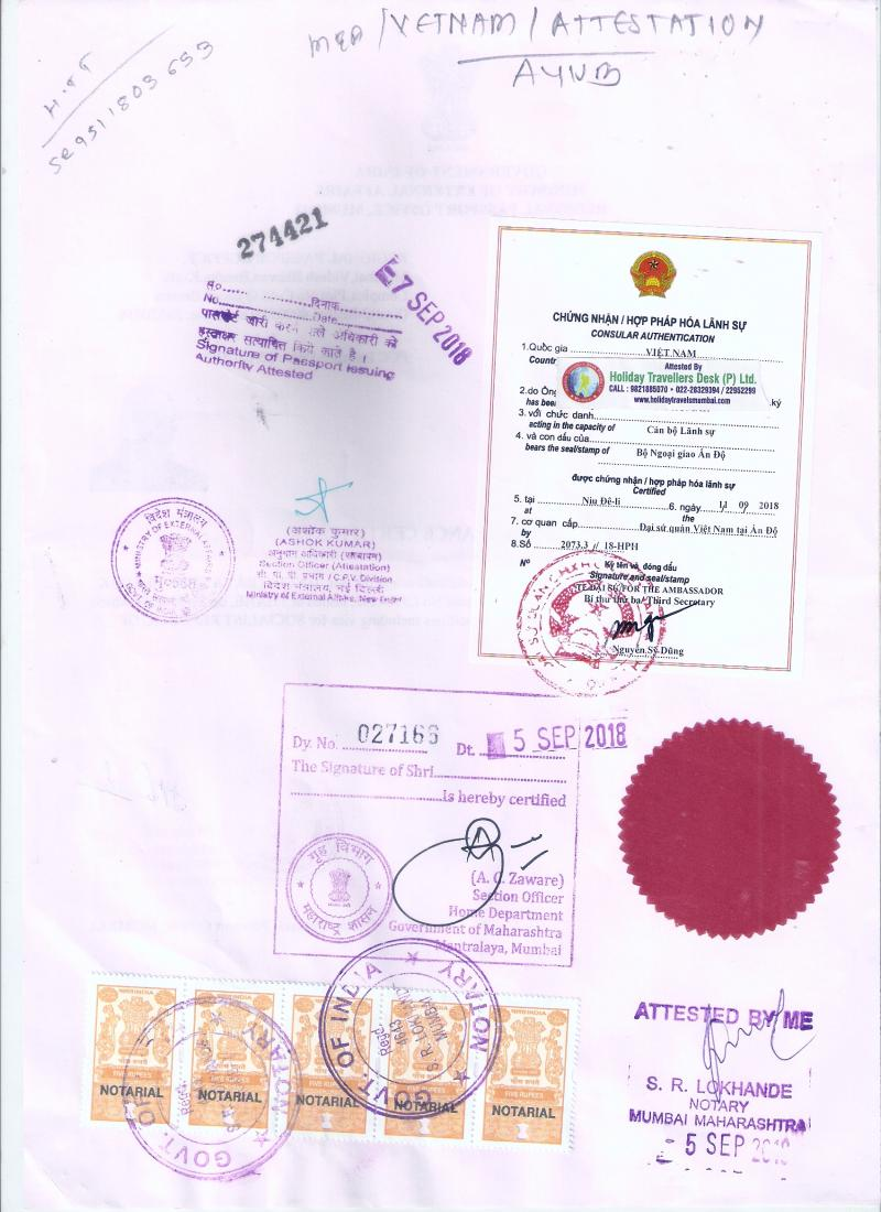 Vietnam attestation