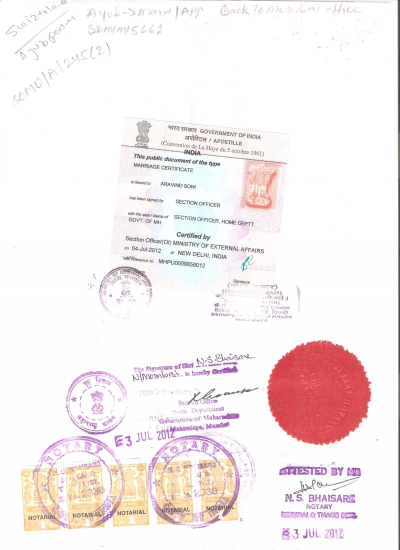 HOLIDAY TRAVELLERS DESK PVT LTD - Marriage Certificate Apostille,Birth